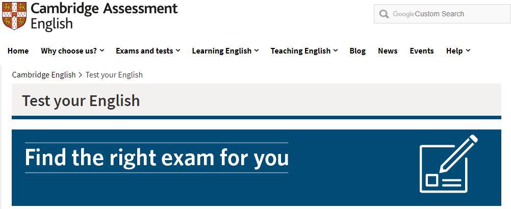 كامبريدج لتقييم اللغة الإنجليزية