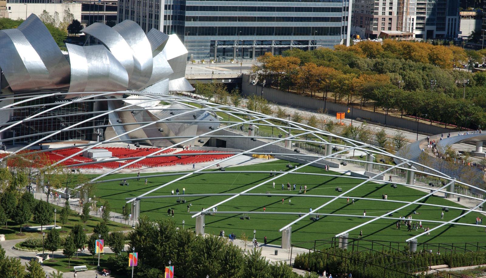 حديقة الميلينيوم بارك شيكاغو