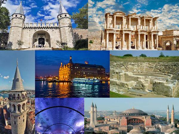 القلاع والقصور بتركيا