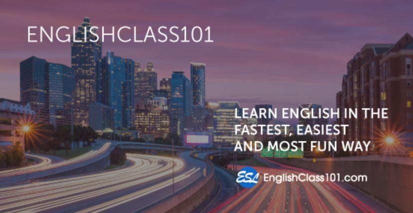ميزات تعلم اللغة الإنجليزية عبر الإنترنت على موقع فئة اللغة الإنجليزية 101