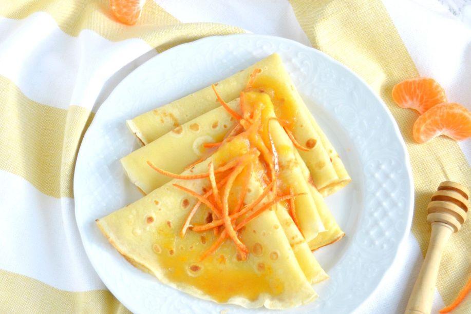 طريقة الكريب الفرنسي مع صوص البرتقال