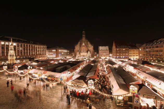 سوق الكريسماس في مدينة نورمبرج الألمانية