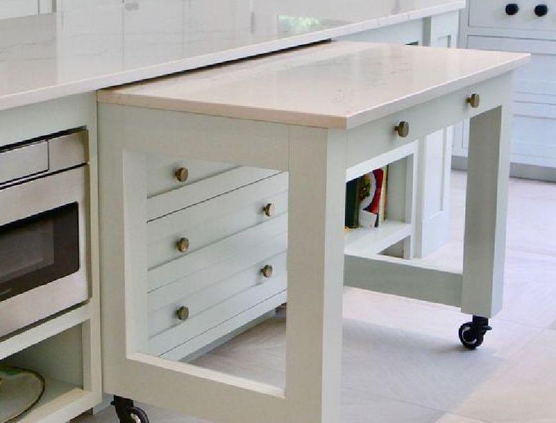 طاولة عمل تطوي أو تسحب المطابخ الصغيرة والبسيطة