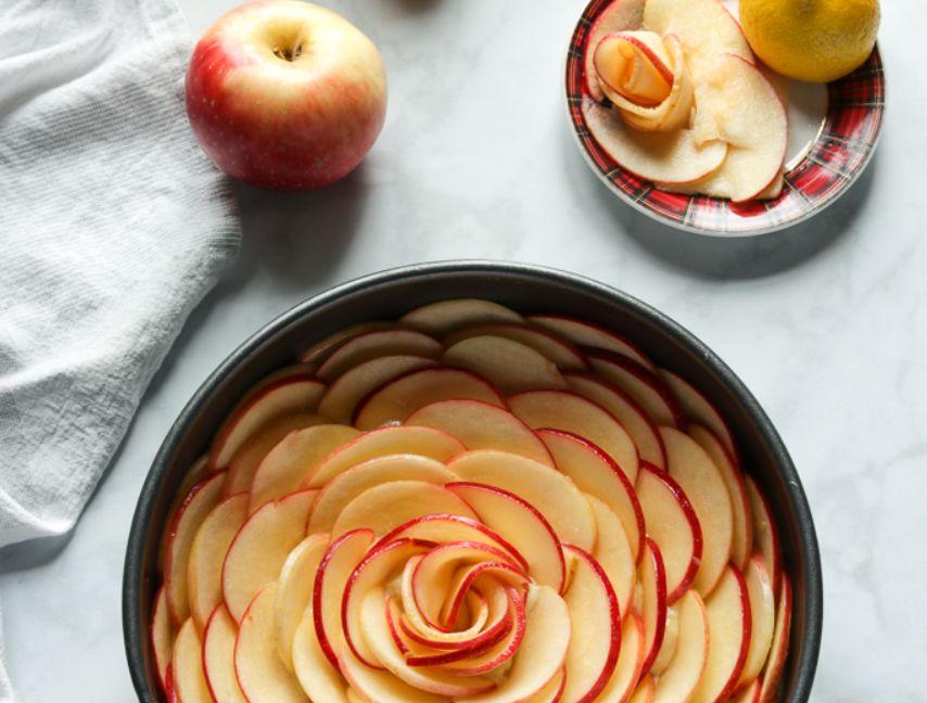 كيكة التفاح ..