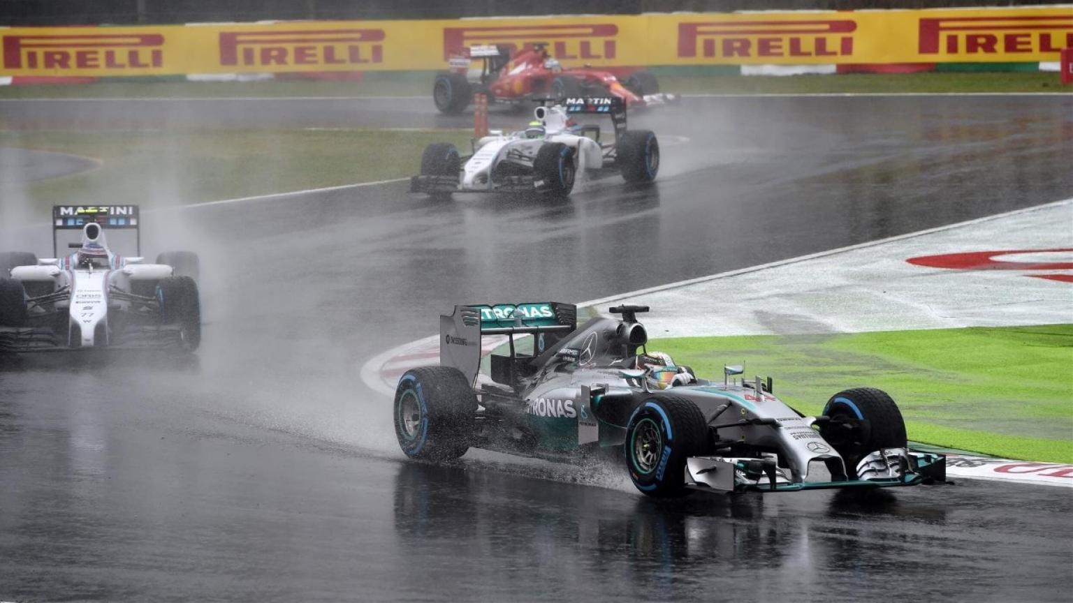 الفورمولا 1 في المطر