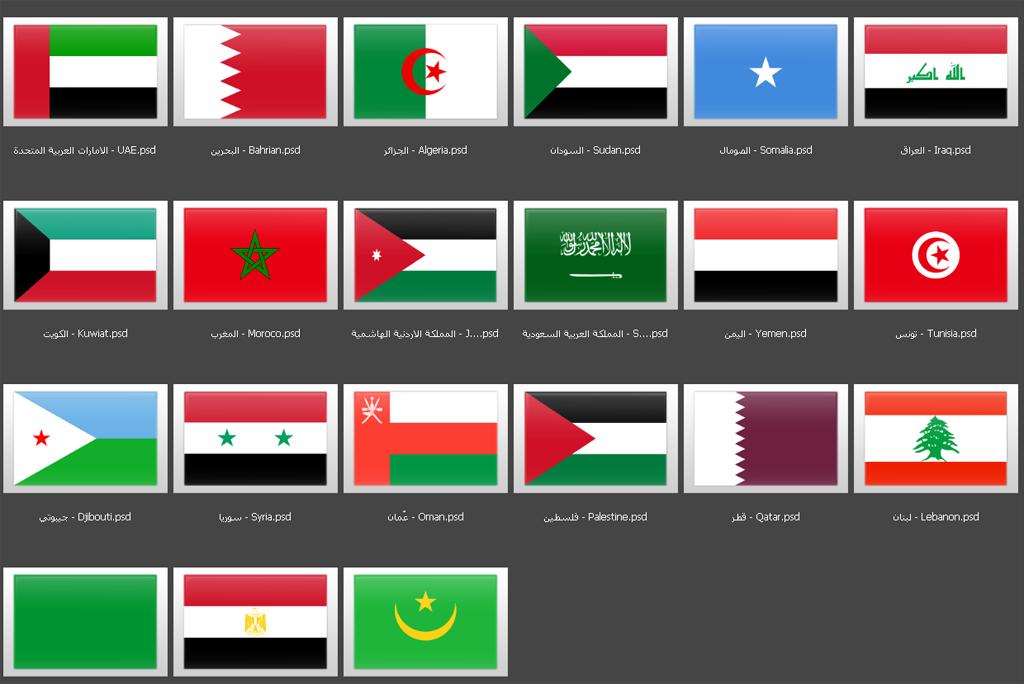 أعلام الدول العربية