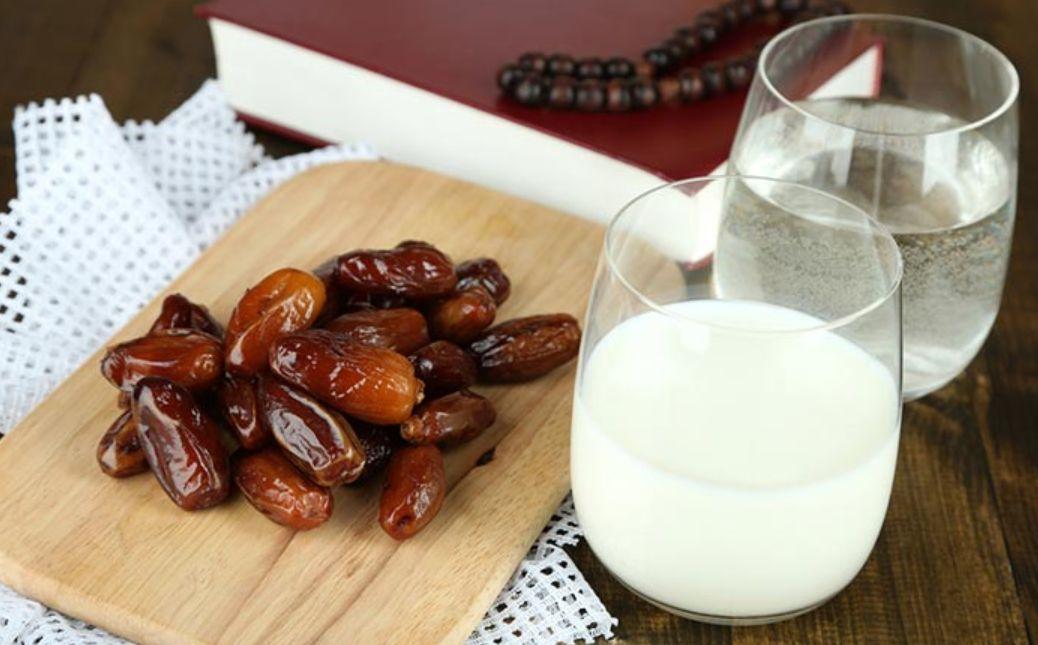 فوائد التمر والحليب والماء