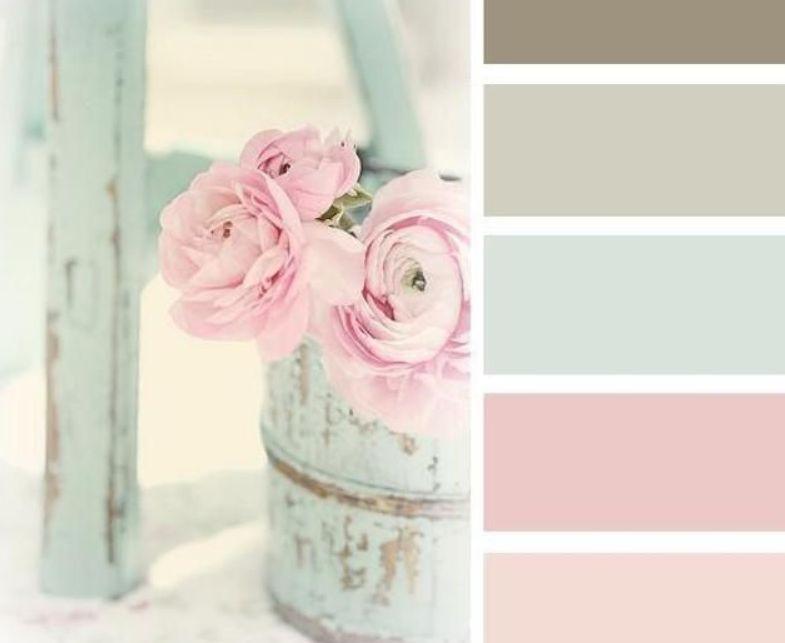 ألوان الباستيل هي الألوان التي تناسب اللون الرمادي