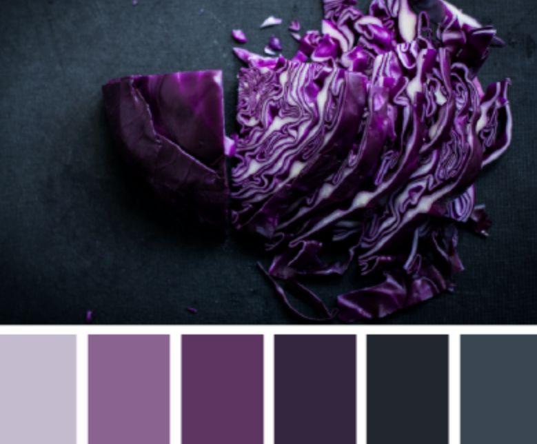 الأرجواني الألوان التي تناسب اللون الرمادي