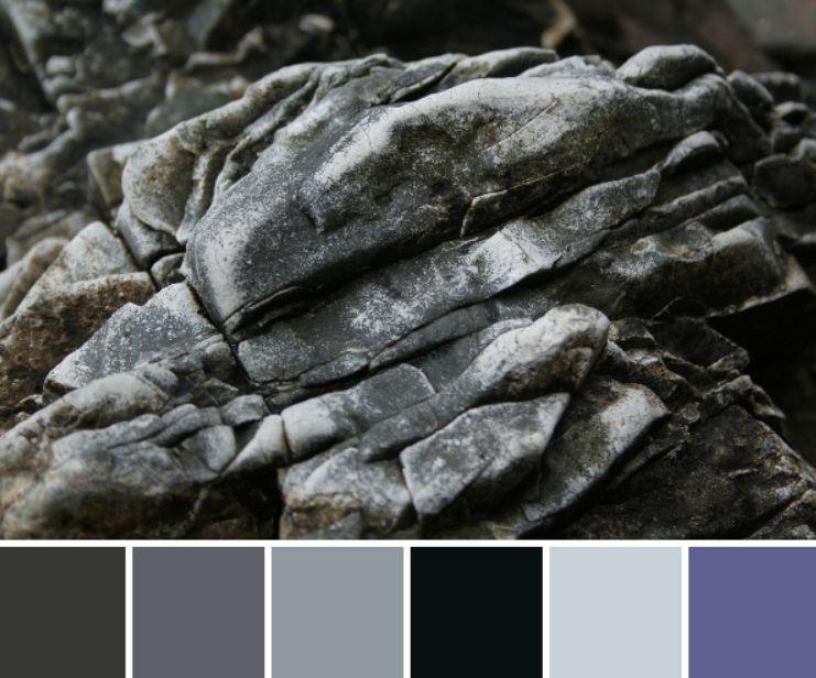ألوان الرمادي والأزرق الداكن التي تناسب اللون الرمادي