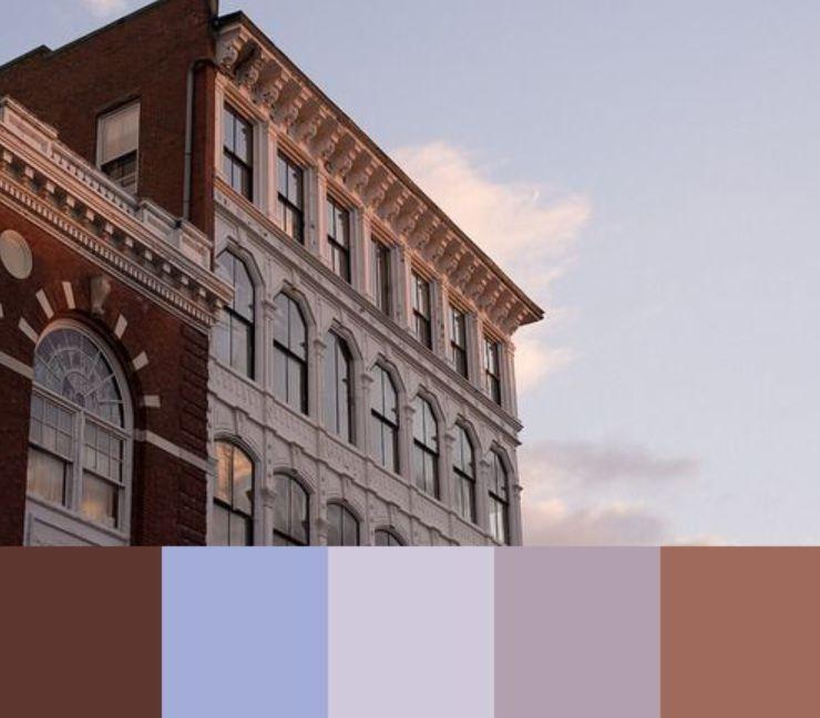 السماوي والترابي الألوان التي تناسب اللون الرمادي