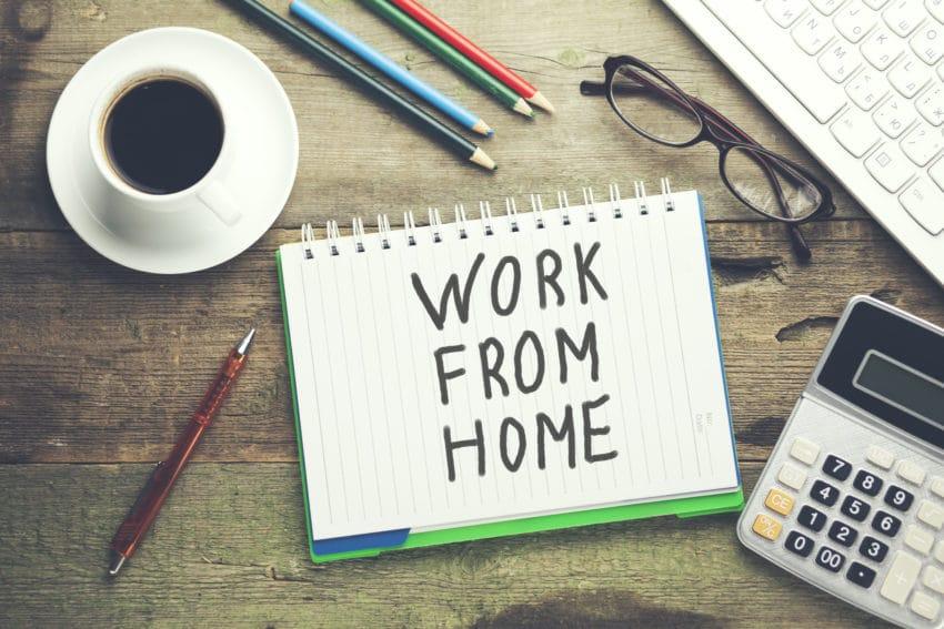العمل من المنزل