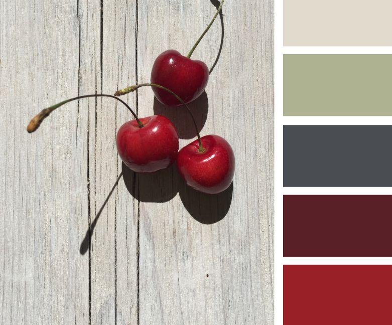 الكرزي الألوان التي تناسب اللون الرمادي