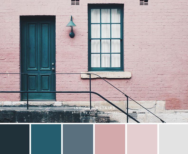 الوردي والأزرق هي الألوان التي تناسب اللون الرمادي