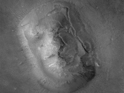 وجه التل على المريخ (ناسا)