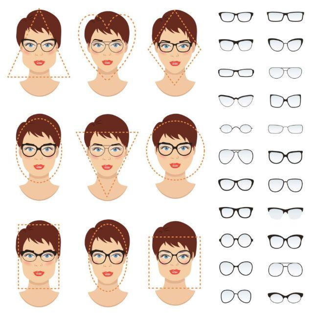 نظارات وجه صغيرة حسب الشكل