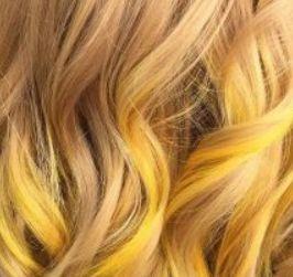 7 – الخصل الصفراء Yellow Streaks صبغات تناسب البشرة الحنطية الفاتحة