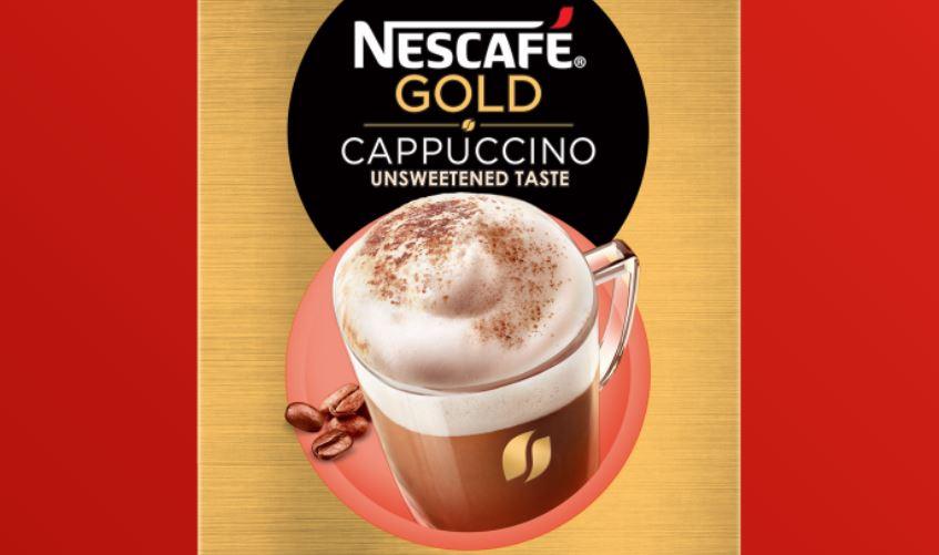 10 – نسكافيه جولد كابتشينو غير محلى NESCAFÉ Gold Cappuccino Unsweetened Taste أنواع نسكافيه جولد