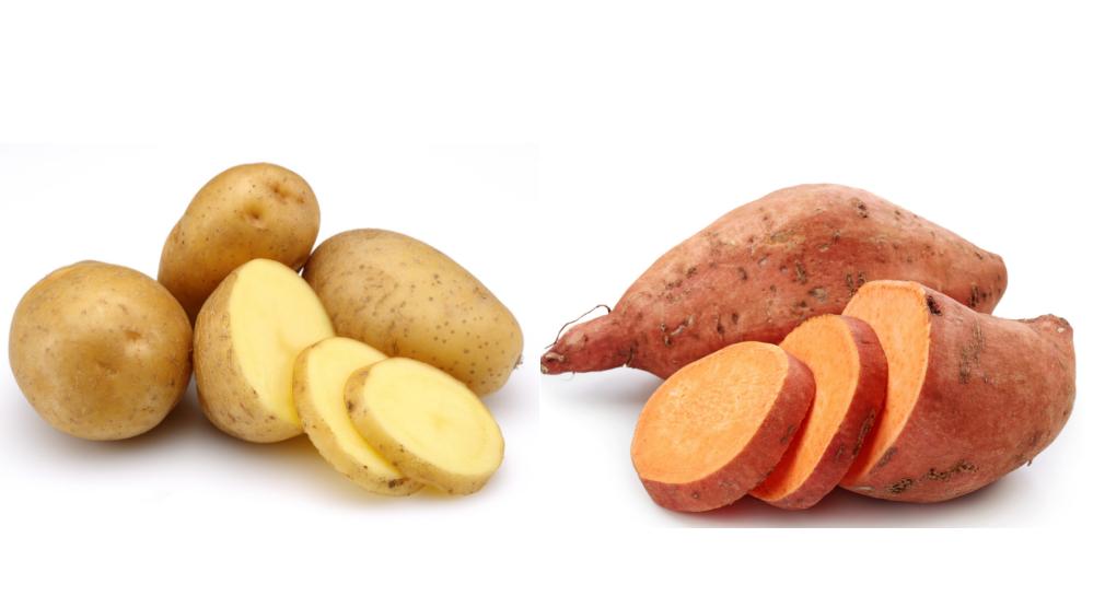 الفرق بين البطاطا الحلوة والعادية