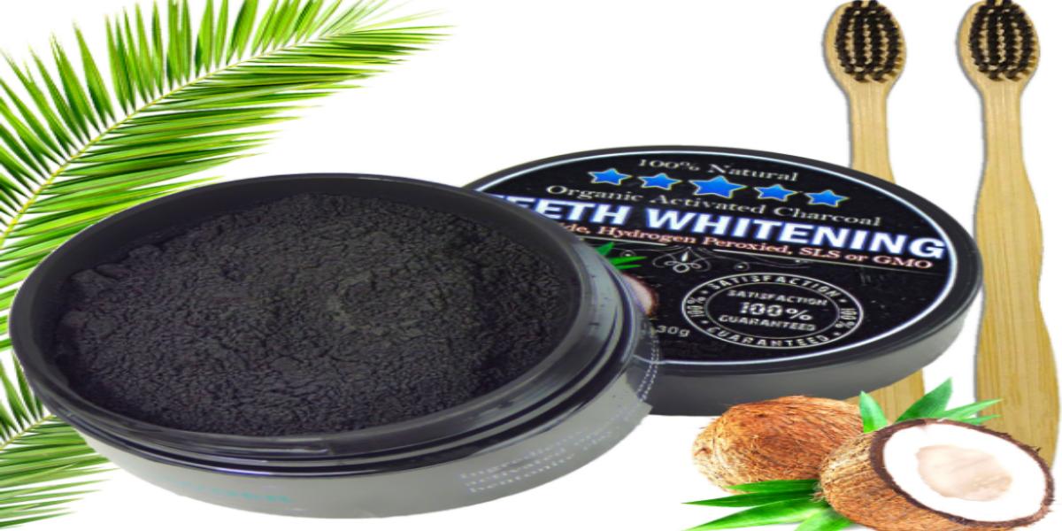 بودرة الفحم لتنظيف الأسنان