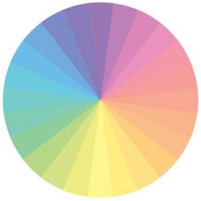 11 – ألوان الباستيل دائرة الألوان للملابس