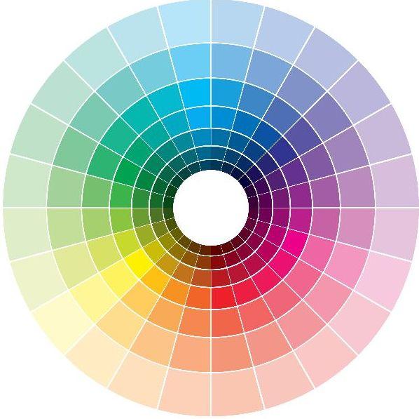 14 – ألوان أميرات دائرة الألوان للملابس ديزني