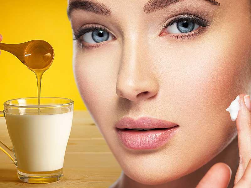 بشرة نقية مع العسل واللبن