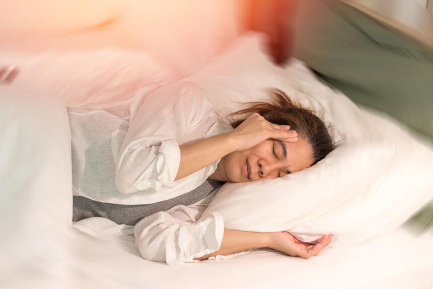 دوخة عند الاستلقاء