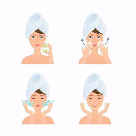مراحل تنظيف البشرة