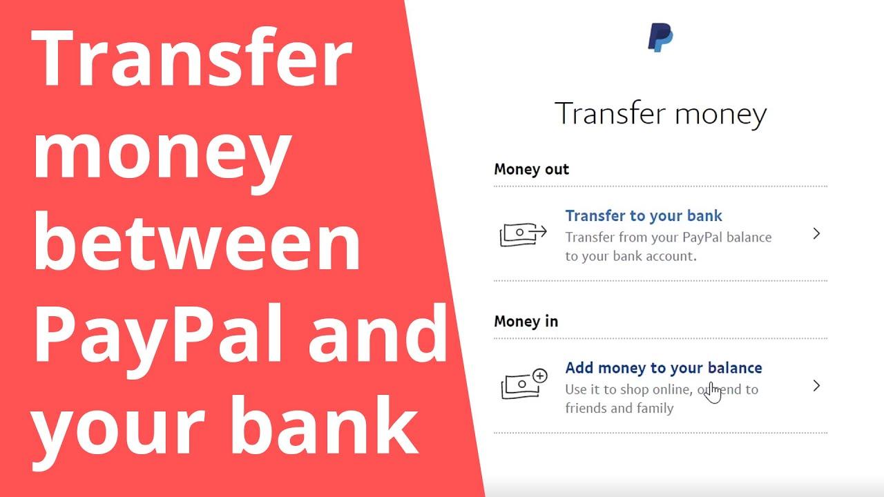 تحويل الأموال بين الباي بال وحساب بنكي