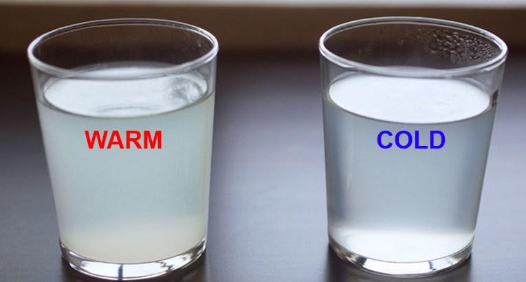 شرب ماء بارد