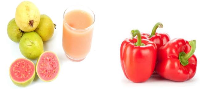 الجوافة والفلفل الأحمر