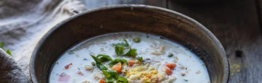 6 – شوربة الشوفان مع الحليب milk and oatmeal Soup