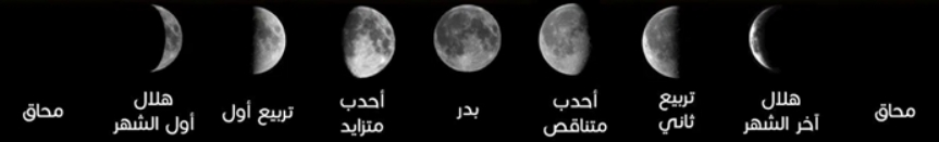 أطوار القمر