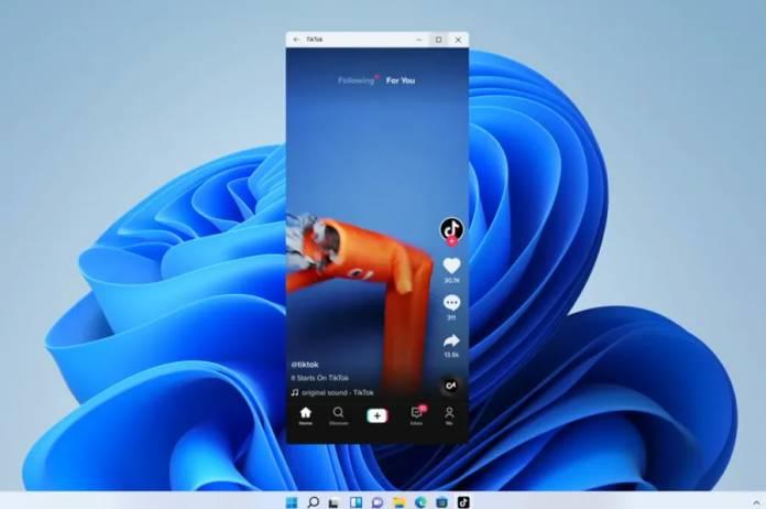 تطبيق تيك توك لأجهزة أندرويد يعمل على ويندوز 11