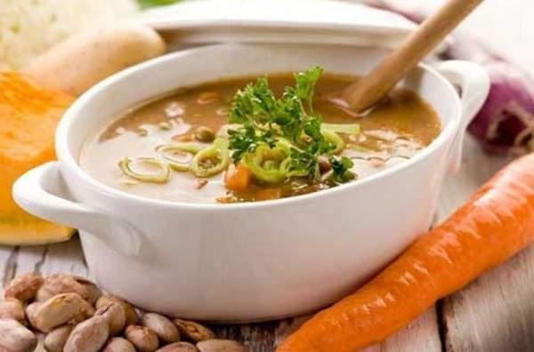 حساء الشوفان بالجزر