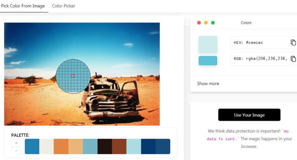 9 – Image color picker