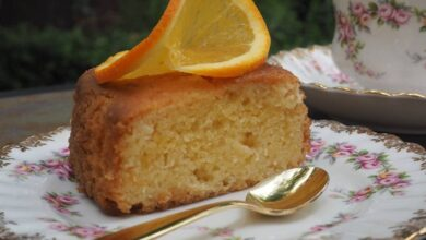 الكيكة بالبرتقال