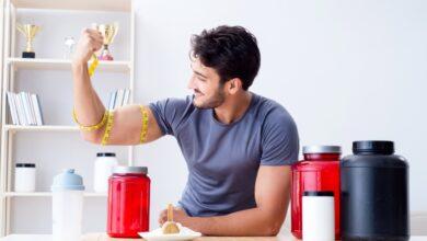 البروتين قبل أو بعد الرياضة